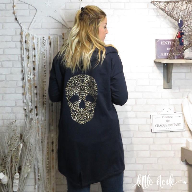 veste tete de mort femme